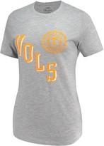 Unbranded Women's Pressbox Heathered Gray Tennessee Volunteers Sundown Tri-Blend T-Shirt