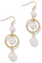 New York & Co. Faux-Pearl Goldtone Drop Earring