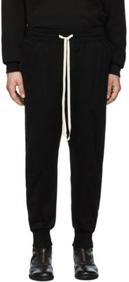 The Viridi-anne Black Cotton Fleece Lounge Pants