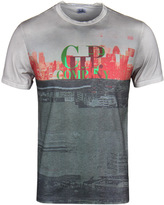 Cp Company Garment Dyed Grey City Short Sleeve T-shirt