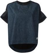 Moncler flared sleeve T-shirt - women - Cotton/Polyamide - M