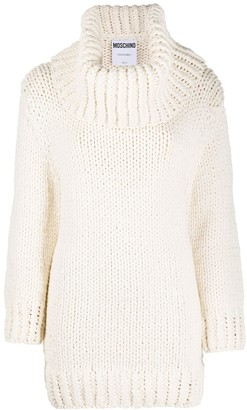 Moschino Knitted Roll-Neck Jumper