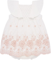 Carrera Pili Girl's Floral Embroidered Dress w/ Bloomers, Size 12M-3