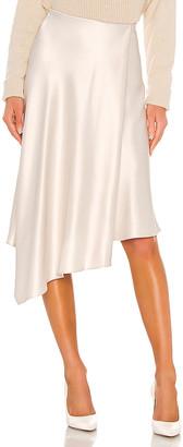 Alice + Olivia Jayla Drape Slit Skirt
