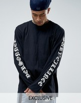 Reclaimed Vintage Oversized Long Sleeve T-Shirt With Sleeve Prints
