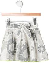Little Marc Jacobs Girls' Floral Print Flare Skirt