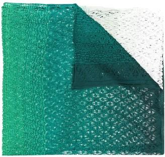 Missoni Open Knit Gradient Knit Scarf