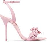 Sophia Webster Lilico Appliquéd Leather Sandals - Pink