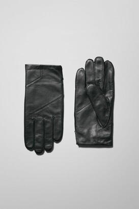 Weekday End Leather Gloves - Black