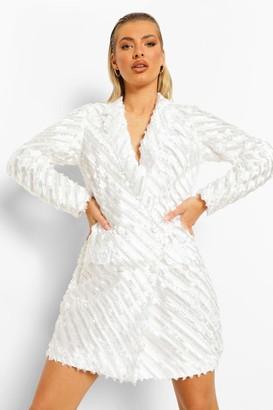boohoo Textured Tailored Blazer Dress
