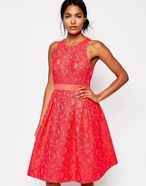 Whistles Midi Dress in Bonded Lace