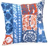 "Trina Turk Costa Mesa Medallion 20"" Square Embroidered Wood Block Decorative Pillow"