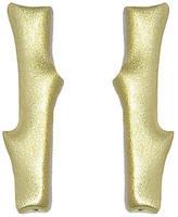 Finn Designer Flower Stem Stud Earrings - Yellow Gold