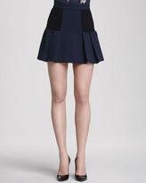 Alice + Olivia Linder A-Line Skirt with Inset