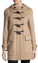 Burberry Baysbrooke Hooded Wool Duffle Coat, New Camel