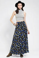 Stolen Girlfriends Club The Fates By Floral Lace-Up Maxi Skirt