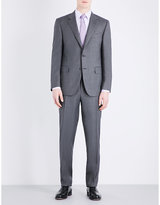 Canali Micro-geometric Pattern Regular-fit Wool Suit
