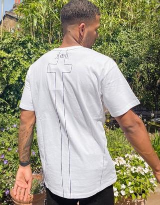 Religion organic oversized t-shirt in white