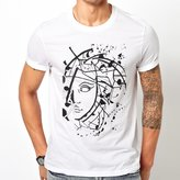 Versace t-shirt for men (Small, White)