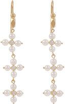 Cathy Waterman Women's Triple-Daisy Drop Earrings