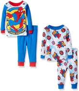 Marvel Boys' Spiderman 4-Piece Cotton Pajama Set