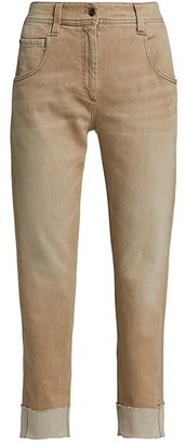 Brunello Cucinelli Garment Dye Cuffed Pants