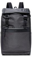 HUGO BOSS Nylon Chevron Print Backpack