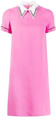 No.21 embellished collar short dress