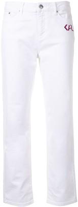 Karl Lagerfeld Paris Logo-Print Slim-Fit Jeans