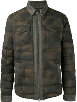 Etro camouflage padded jacket - men - Cotton/Feather Down/Polyamide - L