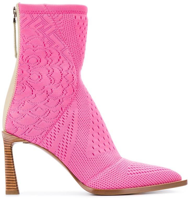 pink fendi cowboy boots