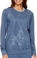 Alfred Dunner Forever and Always Long-Sleeve Embroidered Top
