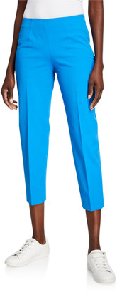 Piazza Sempione Audrey Stretch Cotton Crop Pants, Blue