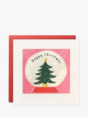 James Ellis Stevens Tree Snow Globe Shakie Christmas Card