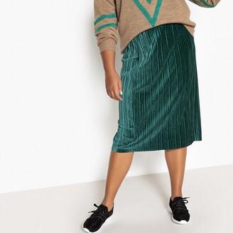 Castaluna Plus Size Plisse Midi Skirt