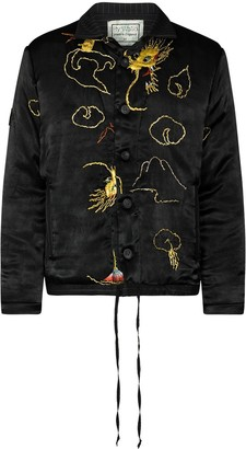 By Walid Jono dragon-embroidered bomber jacket