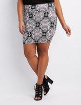 Charlotte Russe Plus Size Paisley Bodycon Mini Skirt