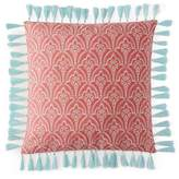 Sky Ingrid Embroidered Foulard Decorative Pillow, 18 x 18 - 100% Exclusive
