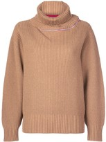 Sacai contrasting stripe turtleneck jumper
