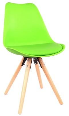 Design Lab MN LS-1000-GRNNAT Viborg Green/Natural Dining Chair Set of 2