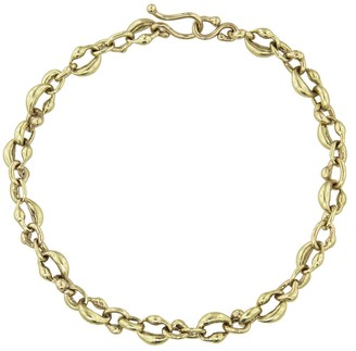Ten Thousand Things Cast Linked Oval Bracelet - Yellow Gold