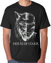 Games of Thrones house of stark white for 2X-Large black Men T-shirt