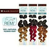 """Black Diamond Buy One Get One Brazilian Remy Human Hair Weave Pure Remi Natural Spiral Curly (Natural Wave) [18""""] (T1B/613)"""