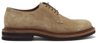 Brunello Cucinelli Suede Derby Shoes - Beige