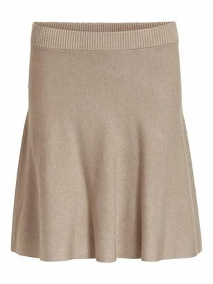 Vila Women's VIPLISANA Knit HW Skirt