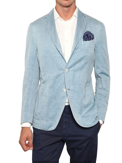 Boglioli Washed Linen Deconstructed Jacket