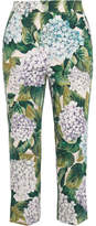Dolce & Gabbana Stretch-cotton Twill Straight-leg Pants - Green