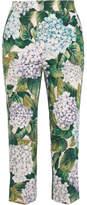 Dolce & Gabbana Stretch-cotton Twill Straight-leg Pants