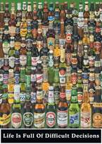 Grindstore Beer Bottle Decisions Beers of the World Poster 61x86cm
