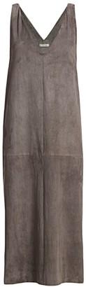 The Row Koya Suede Midi Dress
